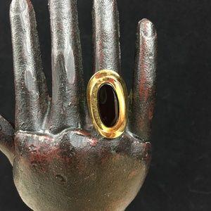 Vintage Ana BeKoach 18KGE Onyx Ring